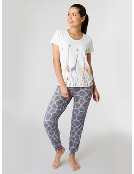Multi Giraffe Pyjama Set by Bouxavenue