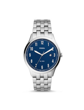 Forrester Three Hand Date Stainless Steel Watch by Fossil