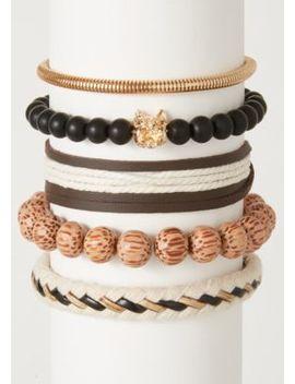 5 Pack Ivory Rope Tiger Bracelet Set by Rue21