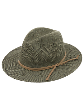 Delicate Zig Zag Packable Fedora Hat by Accessorize