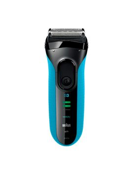 Series 3 3040 S Wet & Dry Shaver   Black & Blue by Currys