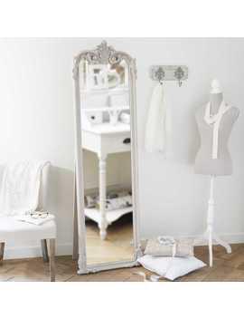 Beige Aankleedspiegel 54x178   Elina by Maisons Du Monde