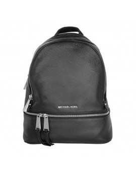 Rhea Zip Medium Backpack Black by Michael Kors