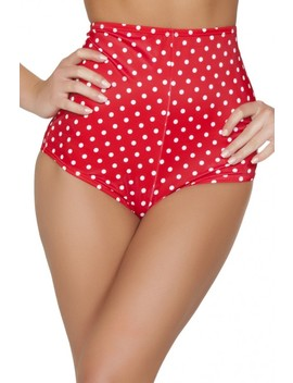 Red Pinup Style High Waisted Shorts by Ami Clubwear