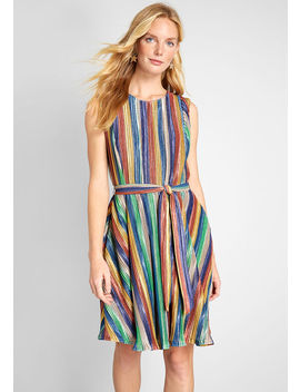 Shimmer And Shine Mini Dress by Modcloth