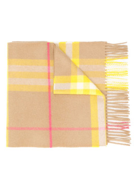 Giant Check Cashmere Scarf by Burberry