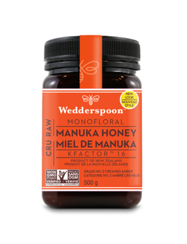 Wedderspoon 100% Raw Premium Manuka Honey K Factor 16 by Well