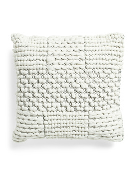 20x20 Textured Knotted Grid Pillow by Tj Maxx