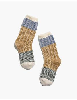 Patterned Colorblock Trouser Socks by Madewell