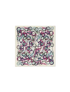 Silk Gancini Print Square Scarf by Salvatore Ferragamo