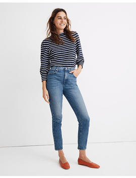 The Petite High Rise Slim Boyjean In Lavern Wash by Madewell