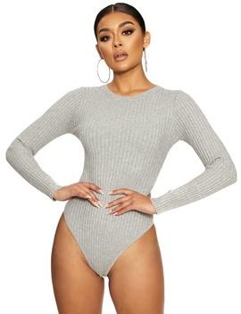 Gettin' Knit Bodysuit by Naked Wardrobe