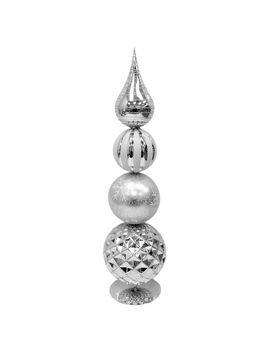 "Silver Shiny Ball Finial, 22""Silver Shiny Ball Finial, 22"" by At Home"