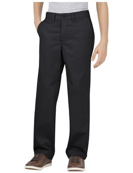 Boys' Flex Classic Fit Straight Leg Ultimate Khaki Pants, 8 20 Husky by Dickies