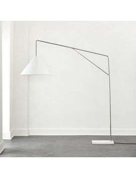 Conan Marble Base Arc Floor Lamp by Crate&Barrel