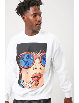 Kissing Graphic Sweatshirt by Forever 21