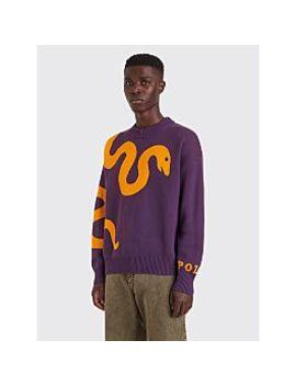 Polar Skate Co. Knitted Snake Sweater Prune / Orange by Très Bien