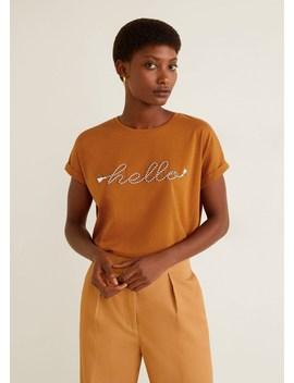 T Shirt Com Mensagem De Corda by Mango