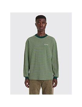 Polar Skate Co. Shin Ls T Shirt Dark Green by Très Bien