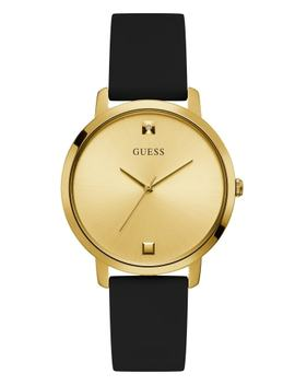 Gold Tone Diamond Analog Watch by Guess