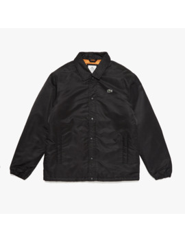 Men's Live Buttoned Embroidered Coach Jacket by Lacoste