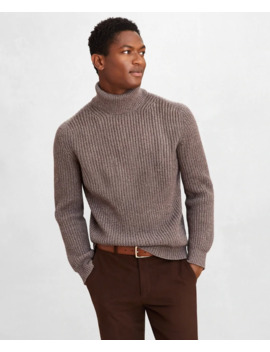 Golden Fleece® Wool Cashmere Turtleneck Sweater by Brooks Brothers