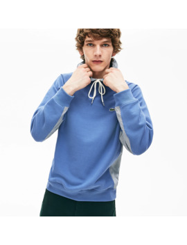 Men's Paneled Print Blocked Hooded Sweatshirt by Lacoste