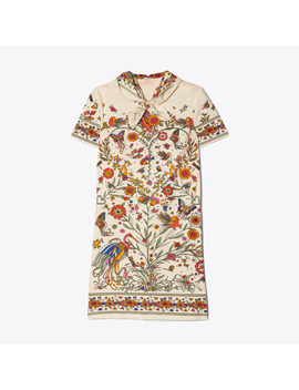 Printed Scarf T Shirt Dress by Tory Burch