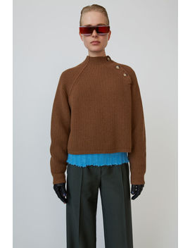 Ribbed Boxy Sweater Toffee Brown by Acne Studios