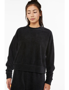 Long Sleeve Corduroy Top by Monki