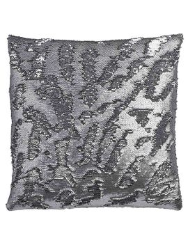 "Mermaid Sequin Throw Pillow, 18"" X 18"", Pewter/Silver Mermaid Sequin Throw Pillow, 18"" X 18"", Pewter/Silver by At Home"