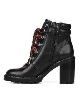 Sade Block Heel Leather Hiking Boots by Sam Edelman