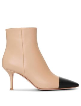 Lucy Leather Ankle Boots by Gianvito Rossi