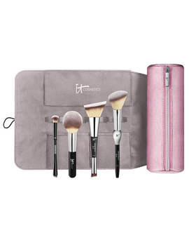 It Cosmetics Special Edition Luxe Brush Set With Brush Roll Makeup Bag by The It Cosmetics Heavenly Luxe Collection Page 1
