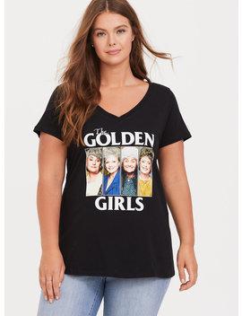 The Golden Girls Black V Neck Tee by Torrid