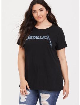 Metallica Black Slim Fit Crew Tee by Torrid