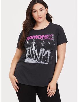Ramones Vintage Black Slim Fit Crew Tee by Torrid