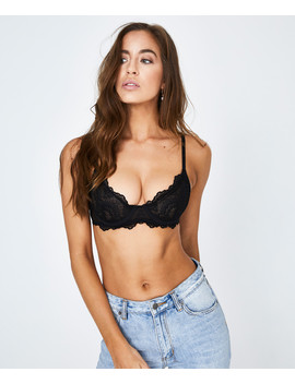 Libra Lace Bra Black by Us