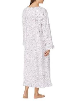 Ruffle Trimmed Cotton Nightgown by Eileen West