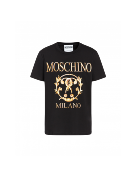 Roman Double Question Mark Jersey T Shirt by Moschino