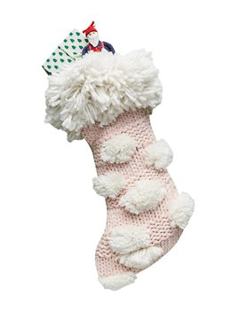 Cindy Pom Pom Stocking by Anthropologie Home