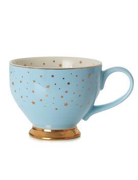 Snowman Starry Night Bloom Teacup by Davi Ds Tea