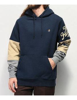 The Hundreds Hollow Blue & Khaki Hoodie by The Hundreds