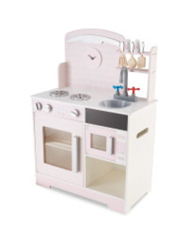 Large Pink Wooden Toy Kitchen by Aldi