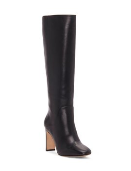 Waldron Tall Leather Stovepipe Boots by Louise Et Cie