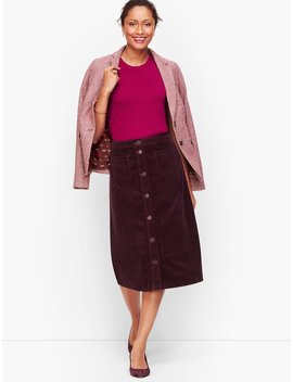 Wide Wale Corduroy A Line Skirt by Talbots