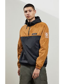 Timberland Hooded Quarter Zip Windbreaker by Pacsun