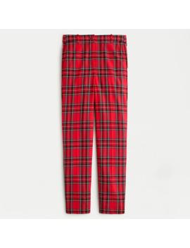 Petite High Rise Cameron Pant In Red Stewart Tartan Stretch Wool by J.Crew