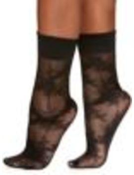 Rose Floral Sheer Ankle Socks by Berkshire
