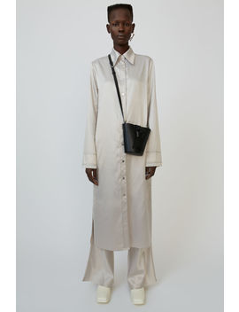 Satin Shirt Dress Pale Grey by Acne Studios